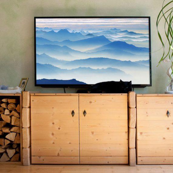 Wohnzimmerschränke Holzbohlen