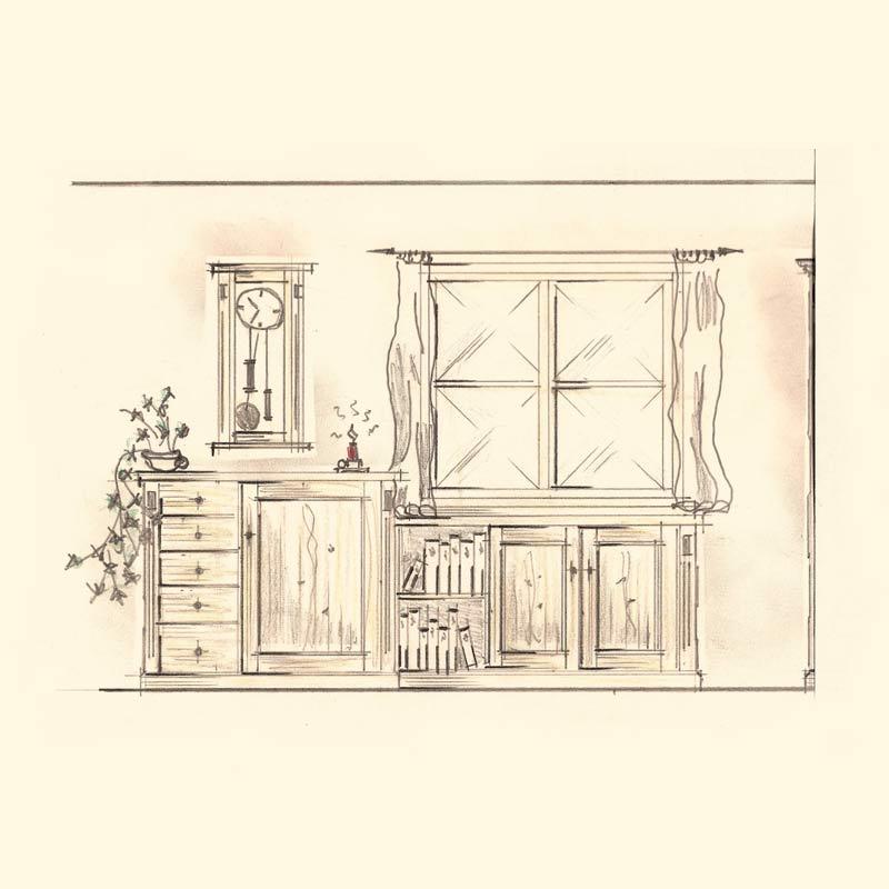 Schreiner Gmund-Tegernsee Wohnzimmerschrank