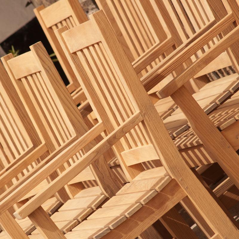 Gartenstühle Teakholz sandgestrahlt und lasiert