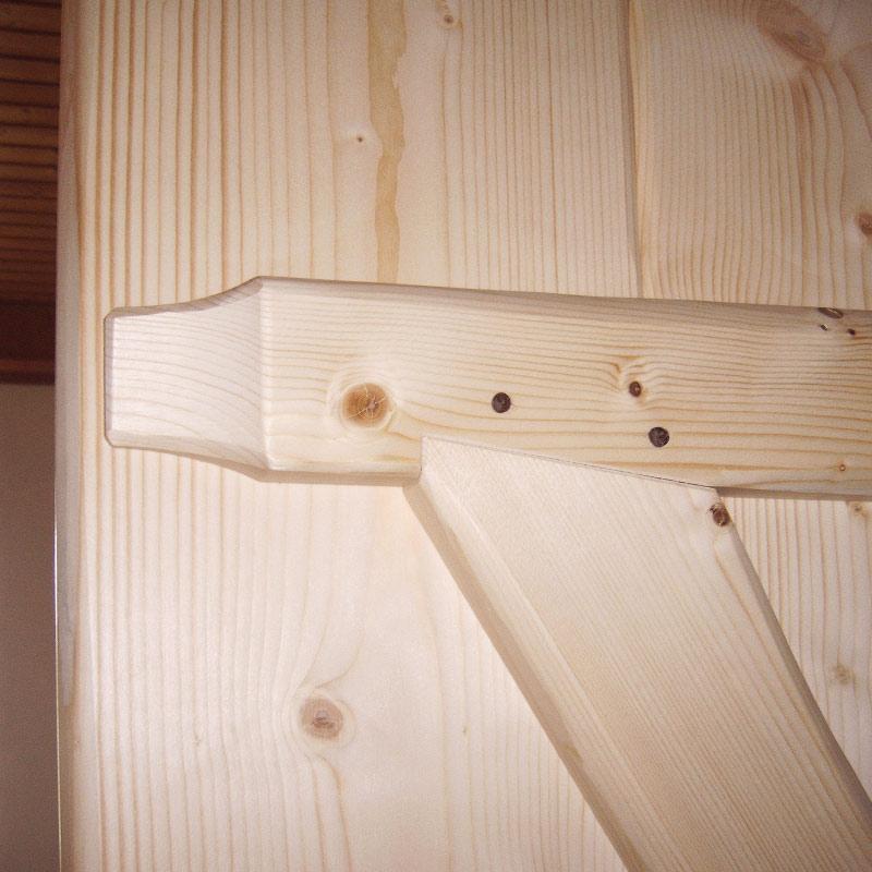 Innentüre Fichtenbohlen Detail